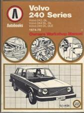 VOLVO 240,242,244,245,DL,GL,GLE,DLE,SALOON,ESTATE AUTOBOOKS MANUAL 1974-1979