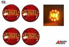 4x 24V LED TAIL LIGHTS HAMBURGER REAR LAMPS FOR TRUCK TRAILER DAF MAN MERCEDES