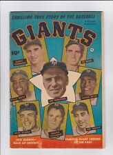 Thrilling True Story of the Baseball Giants comic 1951 Good Condition