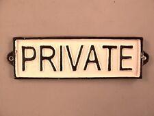 Wandschild Eisen Private Tür Hinweisschild schweres  Schild  Haus Tür Dekoration