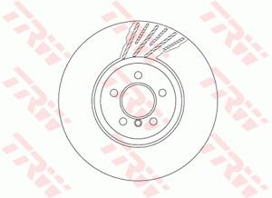 TRW Brake Rotor Front LH DF6613S fits BMW 7 Series 740 i (F01,F02,F03,F04) 24...