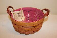 Longaberger Breast Cancer Hope Pink Inside Button Basket Set - New