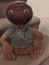 "E.T. Extra Terrestrial Plush Doll 12"" Gray Hood Jacket"