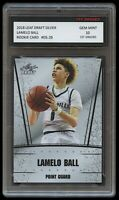 LAMELO BALL 2018 LEAF DRAFT SILVER 1ST GRADED 10 ROOKIE CARD CHARLOTTE HORNETS