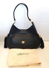 Chopard Madrid Black Calfskin Leather Handbag, New! MSRP $2,250