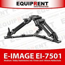 E-Image ei-7501 Medium trípode piernas 26-49cm para 75mm/100mm trípode cabeza (eq762)