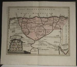 EGYPT NILE DELTA1730 HOMANN HEIRS & WEIGEL ANTIQUE ORIGINAL COPPER ENGRAVED MAP