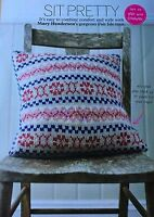 KNITTING PATTERN Fair Isle Sofa Cushion Cover Colourwork Debbie Bliss PATTERN