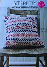KNITTING PATTERN Fair Isle Sofa Cushion Cover Debbie Bliss Colourwork PATTERN