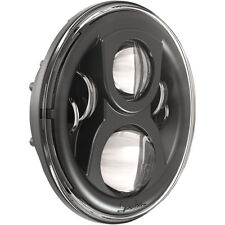 "JW Speaker Harley Davidson 7"" Evo 2 LED Black Dual Burn Headlight With Mount"
