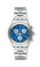 SWATCH IRONY CHRONO MEDIUM -  YMS100G  EGERIA BLUE  - BRAND NEW !