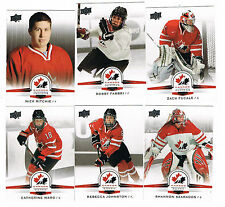 2014 UPPER DECK TEAM CANADA JUNIORS SHORT PRINTED CARD...PICK ONE CARD FROM LIST
