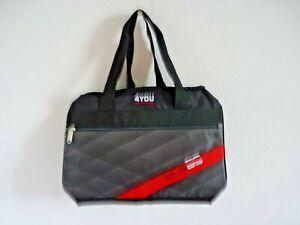 4YOU Sporttasche M grau schwarz rot