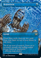 Brainstorm - Foil - Borderless x1 Magic the Gathering 1x Double Masters mtg card