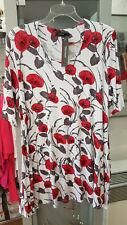 Naveed Tunika Shirt Roter Hibiskus Gr.50/52 ausgefallen Eyecatcher (391)