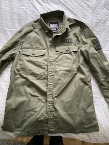 Mens Superdry Military Style Pocket Shirt Size Small