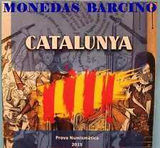 2015  EUROS - CATALUÑA - CATALUNYA - EUROPA - BLISTER ORIGINAL  - PRUEBAS COINS