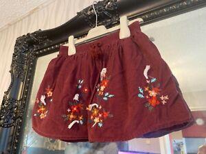 Girls Tu Dark Red Skirt Age 3-4 Years