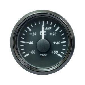 VDO SingleViu 0247 Amperemeter 60A 60 MV 52mm -2 1/16' Schwarz A2C3833080001