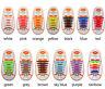 12pcs Silicone No Tie Unisex Shoelaces for Kids, Elastic Shoe Laces, 13 Colours
