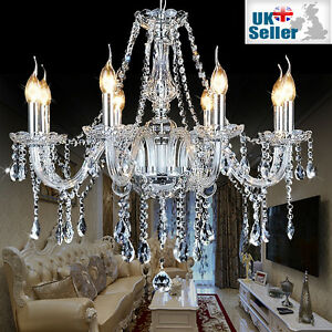 Genuine K9 Crystal Chandelier CLEAR 2, 6, 8, 10, 10+5, 16+8, 16+10+6 arms Light