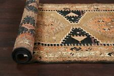 "Antique Geometric Tribal 11' Meshkin Wool Runner Rug Hand-knotted 11' 2"" x 3' 6"""