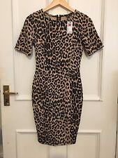Warehouse imprimé léopard Wiggle Robe-Taille 8-BNWT-Rockabilly Style Vintage
