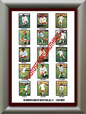 LEEDS UNITED - 1971-72 - REPRO STICKERS A3 POSTER PRINT