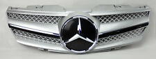 1 Fin Front Silver w/ Chrome Hood Sport Grill for Mercedes SL Class R230 W230