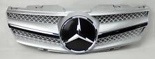 Mercedes SL Class R230 1 Fin Front Silver w/ Chrome Hood Sport Grill W230