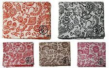 Indian Cotton Kantha Quilt Bohemian Art Decor Tribal Print Handmade Gudari Throw