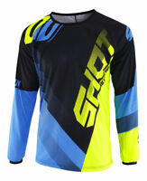 NEW 2019 ADULT SHOT ULTIMATE DEVO MOTOCROSS MX ENDURO JERSEY BLUE NEON YELLOW