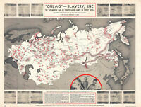 "24""x18"" Poster. The documented map of forced labor camps in Soviet Union"