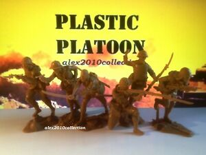 NEW! PLASTIC PLATOON,PACIFIC WWII,Japanese Naval Infantry,6 rubber soldiers1:32
