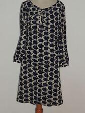 Moulinette Soeurs Navy Geometric Vintage Print Dress sz 0 MED