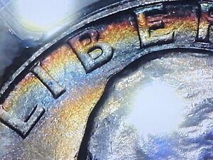 1944 P 25¢ True View Rainbow Doubled Die Obverse