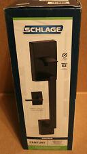 Schlage Century Matte Black Entry Door Handle Latitude Door Lever FE285 CEN 622