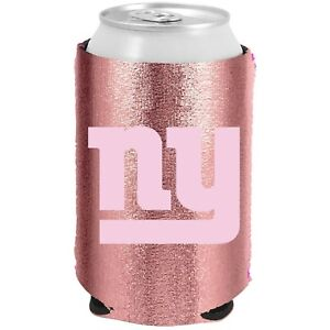 (2) NY GIANTS USA ROSE GOLD DOUBLE SIDED CAN COOLERS COOZIES FREE SHIP