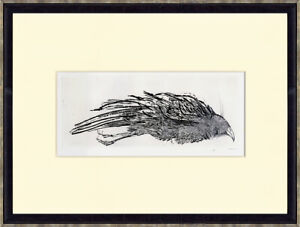 """""""Dead Bird"""" 1942 by LEONARD BASKIN Original Etching Signed & Numbered in Pencil"""
