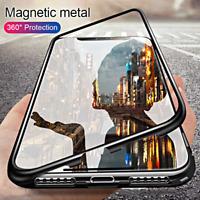 COVER per Samsung Galaxy J6 PLUS Alluminio Glass MAGNETICA RETRO VETRO TEMPERATO