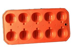 Pumpkin Fall Halloween Thanksgiving 10 Cavity Silicone Mold Candy Chocolate Soap