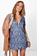 V Neck Short Sleeve Dresses Size Petite for Women