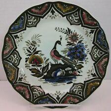 Villeroy & Boch Paon Handpainted Plate Mettlach bird flowers