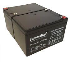 2 x 12V 12Ah 6FM12 Sealed Lead Acid Battery for SW12120 WP12-12 SLA1105