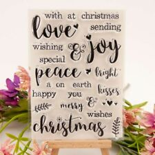 Merry Christmas Clear Silicone Seal Stamp DIY Scrapbooking Embossing Photo Album