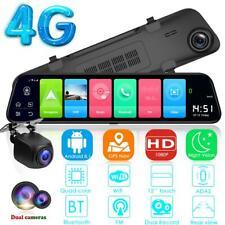 "12"" 4G Android 8.1 Dual Lens Car DVR GPS BT Rearview Mirror Dash Cam Recorder"