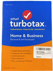 Intuit Turbotax Home & Business 2018 Windows/Mac Disc - Brand NIB Sealed
