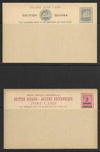 British Guiana unused postal card lot of 2-different