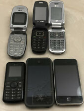 Lot of 6 Vintage Cell Phones Samsung Lg Apple For Parts