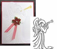 Christmas Embossing Folders Angel Insturment Darice folder 1218-122 Holidays